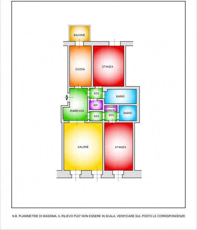 Appartamento in vendita a trieste for Planimetrie architettoniche